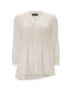 Mint Velvet Bohemien boxy blouse met broderie • de Bijenkorf