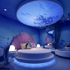 Ocean Themed Rooms, Ocean Room, Girl Bedroom Designs, Room Ideas Bedroom, Room Decor, Awesome Bedrooms, Cool Rooms, Dream Rooms, Dream Bedroom