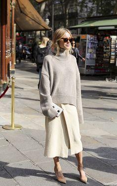 Pernille's brilliant neutrals. Paris. #LookDePernille #LeeOliveira