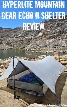Hyperlite Mountain Gear Echo II Shelter Review. #tent #camping #ultralght