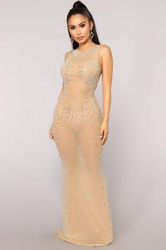 e3ca5c277304 See You Through Mesh Dress - Taupe Сетчатое Платье, Дневные Платья, Модные  Женские Платья