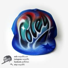 Items similar to YOUR NAME graffiti airbrush painted on the unisex SNAPBACK  Hat Baseball Cap Best Personalized Customized christmas gift for boy and  girl on ... 7035c66346c7
