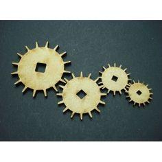4 mécanismes en bois médium 4 tailles D:2cm, 2,5cm, 3,5cm, 4,5cm