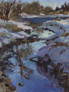 A Painter's Progress: Plein Air on New Year's Day    Wonderful fresh Plein Air by Canadian artist Ingrid Christensen.