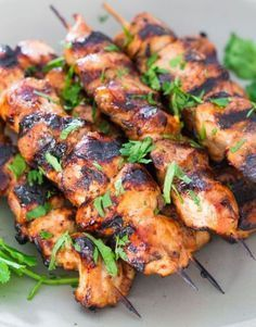 Incredibly delicious Beer and Honey BBQ Chicken Skewers - Perfect for a weekend . Incredibly delicious Beer and Honey BBQ Chicken Skewers - Perfect for a weekend or even a busy week night. Barbecue Recipes, Grilling Recipes, Cooking Recipes, Healthy Recipes, Vegetarian Grilling, Healthy Grilling, Vegetarian Food, Grilling Ideas, Tailgating Recipes