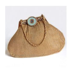 Whiting & Davis Gold Mesh Bag Art Deco Vintage Bags by Curiopolis, $165.00