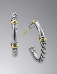 David Yurman Metro Hoop Earrings, Mini