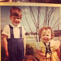 Old family picture du jour. Me and my brother Peter. East Lansing Michigan circa 1966?