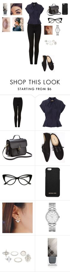 """Untitled #215"" by warrior98 ❤ liked on Polyvore featuring Topshop, Toga, The Cambridge Satchel Company, Wet Seal, MICHAEL Michael Kors, Marc by Marc Jacobs, Charlotte Russe and Burberry"
