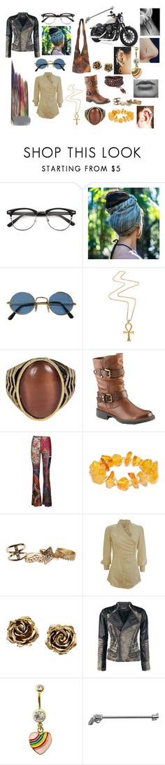"""""""The gypsy on the bike"""" by the-trickster-king ❤ liked on Polyvore featuring Gogo Philip, Boohoo, Earth, Black Coral, Wet Seal, Twenty8Twelve, Tiffany & Co., Harley-Davidson, Rock Rebel and CO"""