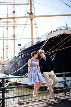 South Street Seaport engagement shoot