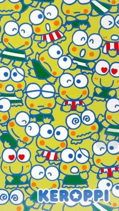 Keroppi Wallpaper, Kawaii Wallpaper, Cute Wallpaper Backgrounds, Colorful Wallpaper, Galaxy Wallpaper, Cute Wallpapers, Frog Art, Diy Notebook, Hello Kitty Wallpaper