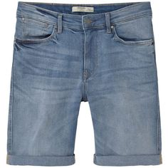 Medium Denim Bermuda Shorts ($37) ❤ liked on Polyvore featuring shorts, mango shorts, zipper shorts, cuffed denim shorts, bermuda shorts and denim bermuda shorts