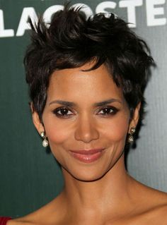Halle Berry's Tousled Pixie Hairstyle