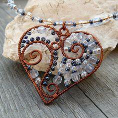 copper wire heart