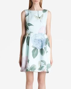 Only a few more months until Spring!!! <3 <3  Distinguishing rose dress - Mint | Dresses | Ted Baker