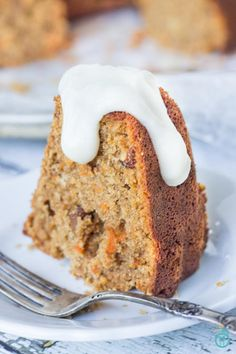 Gluten-Free Carrot Cake - remade healthy using quinoa & almond flours
