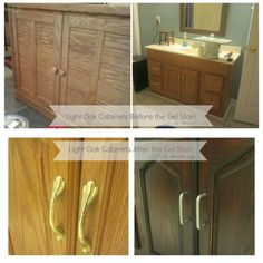 How to turn Light Oak Thrift Store Finds into beautiful dark wood furniture