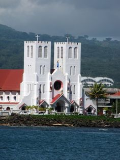 Apia, Samoa. I didn't take this picture but I did walk past this church.