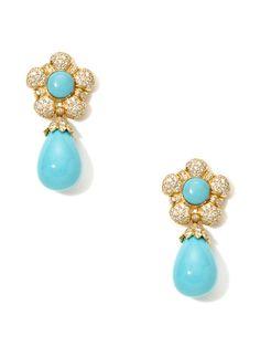 need.  Diamond Flower & Turquoise Drop Earrings by Piranesi on Gilt.com