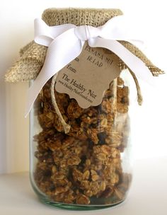 Banana Nut Bread Gourmet Granola Gift Jar All by TheHealthyNut, $9.00
