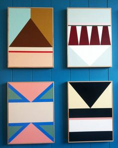 Colour blocked Panels. 2014