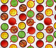 soup's on fabric by glimmericks on Spoonflower - custom fabric