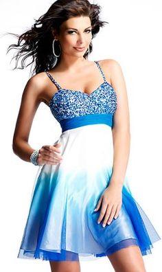 vestidos de 15 años corto azul - Buscar con Google