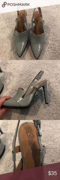 BRAND NEW Calvin Klein Grey pointed toe heels :) BRAND NEW Calvin Klein Grey pointed toe heels :) Calvin Klein Shoes Heels