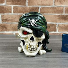 Haunting One-Eye Skull Head Ashtray Halloween Gift Skull Head, Skull Art, Online Gifts, Halloween Gifts, Creative Gifts, Birthday Gifts, Personal Style, The Originals, Artist