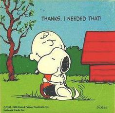 Charlie Brown gets a Snoopy Hug!                                                  ♥ SnOOpy