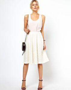 Classic lace midi skirt
