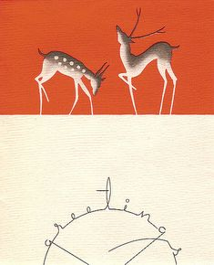 Nouvelles Images Holiday Boxed Note Card Set, Deco Deer and Greetings (XDB Each box contains 15 full sized cards and envelopes. Card image pictured on the Merry Christmas, Vintage Christmas Cards, Christmas Images, Vintage Holiday, Xmas Cards, Christmas Greetings, Christmas Deer, Holiday Cards, Holiday Wishes
