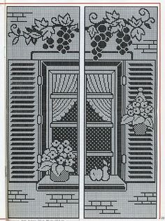 Filet Crochet curtain panels