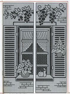 Filet Crochet curtain panels