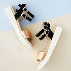 Nikita Flatform Sandals. A copper-accented strappy pair with a wear-everywhere platform wedge. A holiday must-have!