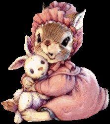 by Kathy Lawrence Rabbit Art, Bunny Art, Vintage Easter, Beatrix Potter, Whimsical Art, Cute Illustration, Vintage Cards, Paper Dolls, Cute Art