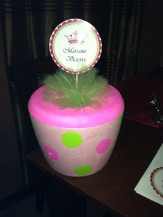 "Baby shower ""A new little princess"" - decorated foam cooler"