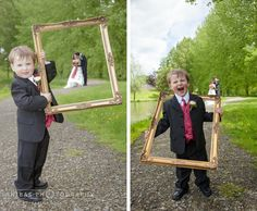 'A little helper' - The pageboy was so cute helping with this Wedding Portrait photo :-)