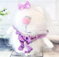 LADY CAT  AMIGURUMI Cat Kitty Kitten  Knit by MiracleStoreUS