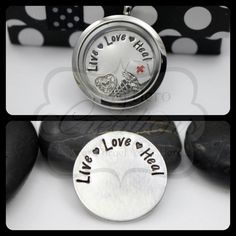Hand-Stamped 30mm Live Love Heal Nurse Themed by MyHeroCreations