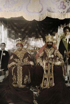 Emperor Haile Selassie I & Empress Menen Asfaw, last ruling monarchs of Ethiopia
