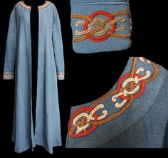 Wool Viking coat in blue.