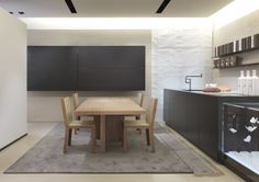 """The project of the Bellagio kitchen by Bartoli design meets new requirements and completes our """"Decor"""" system of furniture items such as doors, wall panels, cabinets; a unique proposal for flexibility, for the quality of its materials and the surface design."""