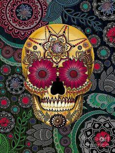 Skulls:  Day of the Dead #skull.