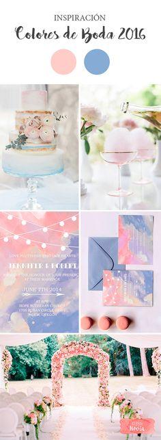 Inspiración Detalles de Boda en los Colores 2016: Rosa Cuarzo y Azul Serenidad | El Blog de una Novia | #boda #decoracion