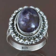 EXCLUSIVE 925 SOLID STERLING SILVER FANCY RING JEWELRY 6.07g DJR9007 SIZE-7 #Handmade #Ring