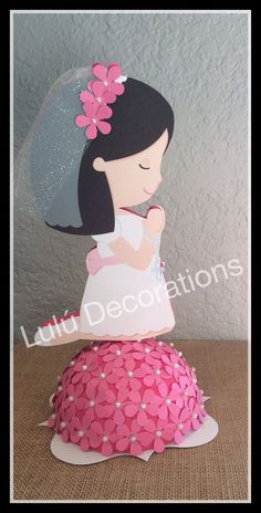 First Communion centerpiece por LuluDecorations en Etsy