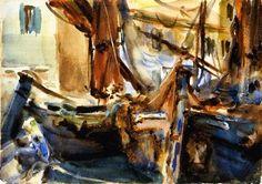 At Chioggia   John Singer Sargent   oil painting #OilPaintingItaly
