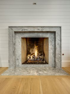 Grey Goose Marble Fireplace